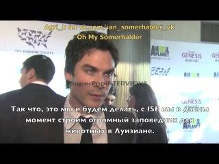 Ian Somerhalder Interview at Genesis Awards Rus Sub